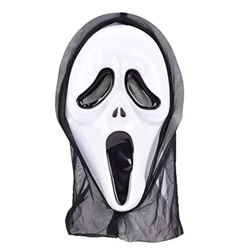 LIGONG Halloween Mask Scary Scream Ghost Face Mask Halloween Masquerade Party Cosplay Props Unisex -