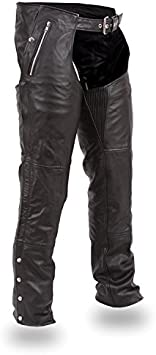 FMC Double Deep Pocket Thermal Leather Chaps Black, 5X-Large