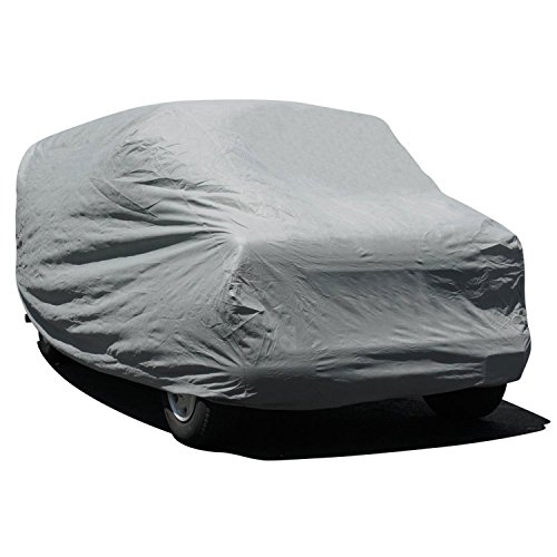 Budge Rain Barrier Van Cover Fits Mini-Vans up to 18 feet, VRB-1 - (Polypropylene with Waterproof Film, Gray)