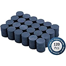 Boston Ceramic Ferrite Magnets bulk 120 per box – Super Strong Grade 11 - 0.78 inch x .20 inch Thick - Ferrite Magnets Bulk for Crafts Sciences Hobbies in Schools Offices and Industrials