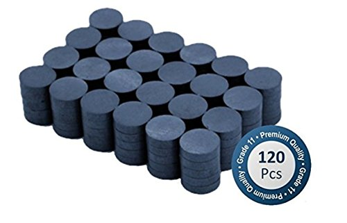 Boston Ceramic Ferrite Magnets bulk 120 per box – Super Strong Grade 11 - 0.78 inch x .20 inch Thick - Ferrite Magnets Bulk for Crafts Sciences Hobbies in Schools Offices and Industrials by Boston Home Essentials