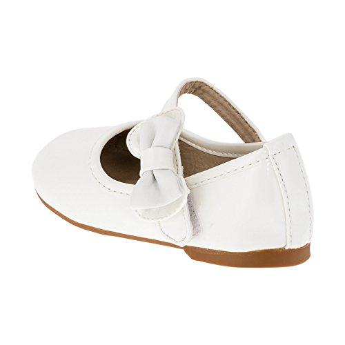 Max Shoes Festliche Mädchen Ballerina Schuhe in Vielen Farben #266ws Weiß