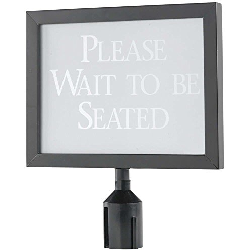 11 1/8'' x 14 1/8'' Black Finish Horizontal Removable Steel Stanchion Sign Frame By TableTop King by TableTop King