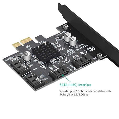 I/O Port Cards SATA III PCIe x1 Non Raid Hard Drive