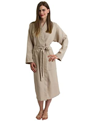 TowelSelections Women's Waffle Weave Robe Shawl Spa Bathrobe Made in Turkey