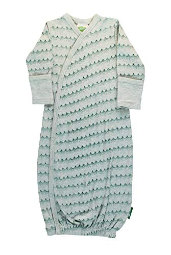 Parade Organics Kimono Gowns - Signature Prints Green Waves 3-6 Months
