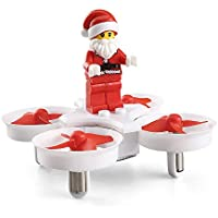 ECLEAR New Christmas RC Drone, JJRC H67 Remote Control 2.4G 4 Axis with LED Music RTF Foldable Flying Santa Claus Quadcopter Toy Gift For Kids, by, White
