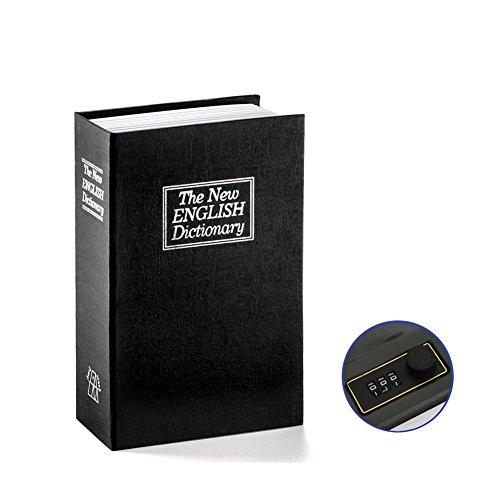 Libro caja fuerte caja de caudales con combinación casa diccionario desviación caja de cerradura de seguridad de metal de...
