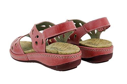 À tucson Semelle 180907 Sandales Amovible Chaussure Confort Rouge Femme Rojo Piesanto BqwgA5xzWq