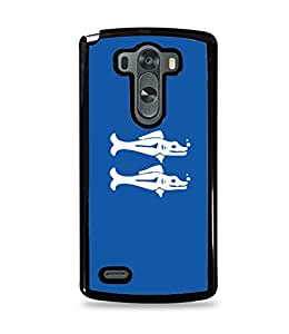 Blue Barracudas Black Hardshell Case for LG G3