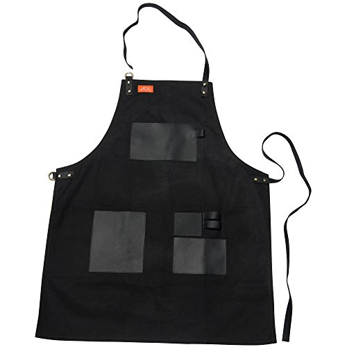 Traeger APP156 Black Canvas and Leather XL Grill Apron, Extra Large