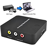 Y&H AV Capture Adapter,VHS To Digital Converter,Record Capture Conversion Analog Video Tapes to Digitalize Format for Hi8 VCR DVD DVR