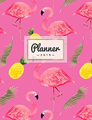 Planner 2019: Tropical Pineapple + Flamingo - Weekly ...