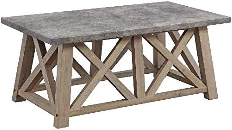 Better Homes and Gardens Granary Modern Farmhouse Coffee Table Gray, RUSTIC GRAY
