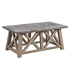 Living Room Better Homes and Gardens Granary Modern Farmhouse Coffee Table (Gray, RUSTIC GRAY) modern coffee tables