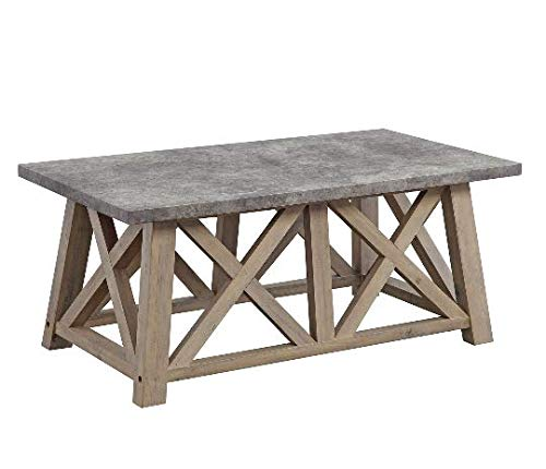 Better Homes and Gardens Granary Modern Farmhouse Coffee Table (Gray, RUSTIC GRAY)