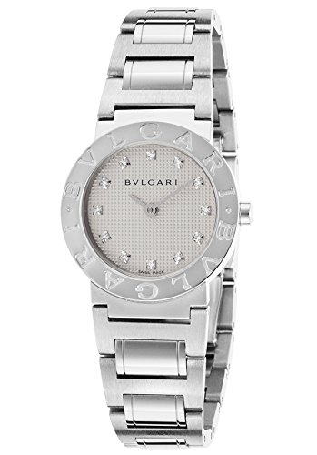 Bulgari-Bb26wss-12N-Womens-Diamonds-Stainless-Steel-White-Round-Dial-Watch