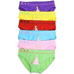 ToBeInStyle Girls Pack of 6 Seamless Princess & Ferris Wheel Panties - Medium