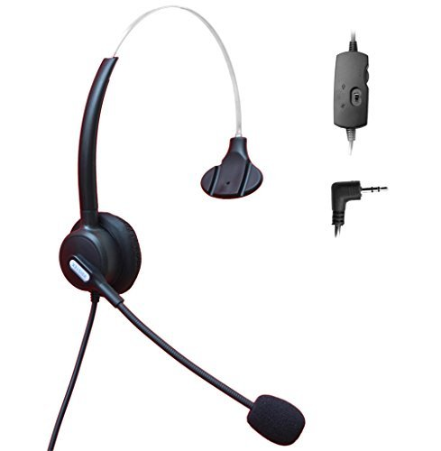 Comdio 2.5mm Call Center Telephone Headset Headphone with Mic + Volume Mute Controls for Grandstream AT&T TL88002 TL86103 TL86003 TL76108 TL7610 TL88102 TL86109 TL86009 with 2.5mm Socket(H103VP7) by Comdio