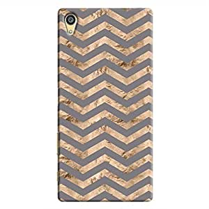 Cover It Up - Brown Grey Tri Stripes Xperia Z5 Dual Hard case