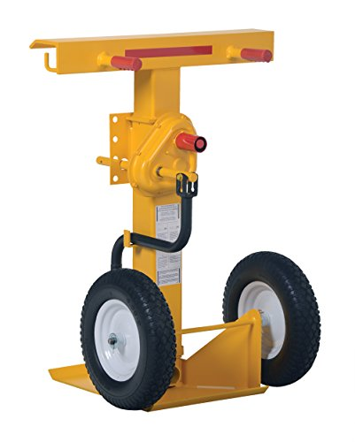 Vestil-CJ-BEAM-PN-Steel-Hand-Crank-Trailer-Stabilizing-Jack-with-16-Fully-Pneumatic-Wheel-41-55-Height-Range-100000-lb-Capacity