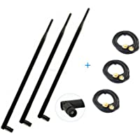 3 9dBi 2.4G 5G WiFi RP-SMA Antennas + 10ft Extension Cable for Linksys EA6900