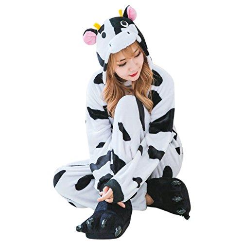 Grandma's Costume Baby On Back (Oufeisha One-piece Cow Pajamas Unisex Costume Adult Animal Onesie)