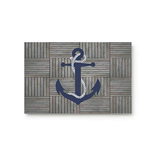 Cloud Dream Blue Nautical Anchor Pattern Door Mats Rug,Floor Mats Front Doormats Non-Slip Bedroom Carpet Home Kitchen Rug 20x31.5inch