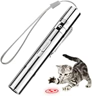 Cat Toys, Stainless Steel Interactive Toy for Dog Chase and Catch, Multi Pattern LED Flashlight Exercise Pet T