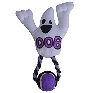 Dog Squeaky Toys Puppy Plush Ghost Toy with Ball by BINGPET Click on image for further info.