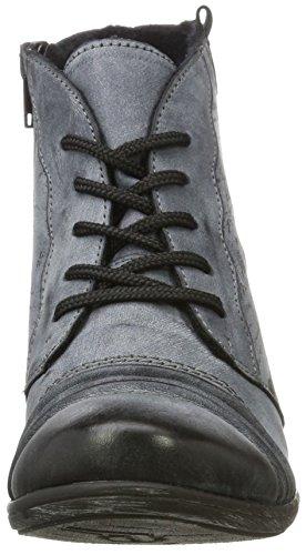 Remonte Women's D8771 Ankle Boots, Ozean/Schwarz/Ozean Weite G, 4 UK Blue (Ozean/Schwarz 14)