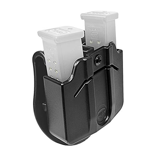 Orpaz Glock Magazine Holster Double Stack Double Mag Case & Mag Pouch for Glock