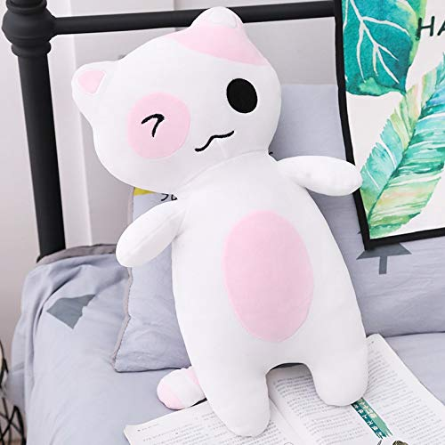 GOOGEE Cat Plush Toy - Cat Plush Toys Staffed Cat Dolls Animal Toys Home Decoration Soft Cat Pillows Kids Gift - 32 Inch Pink - Tabby Monkey Yellow Toy Orange Hat Kitten Small Fat Dolce ()