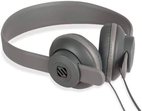 SCOSCHE SHP400-GY lobeDOPE On-Ear Headphones - Retail Packaging - Grey