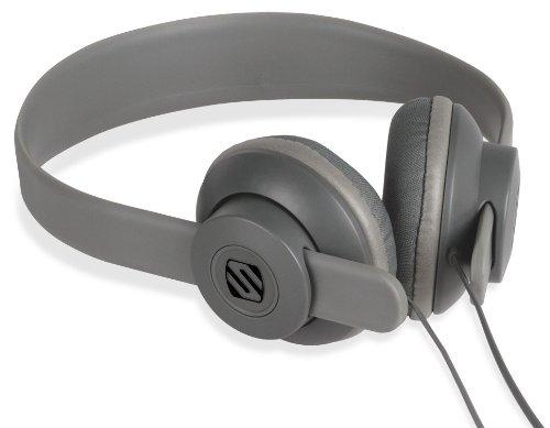 SCOSCHE SHP400-GY lobeDOPE On-Ear Headphones - Retail Packaging - Grey (Scosche Headphones Wireless)