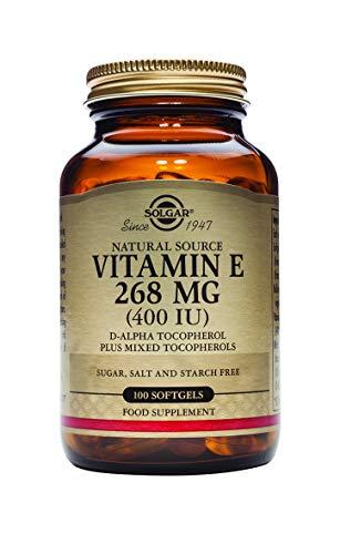 Solgar Vitamin E 400 IU Mixed (d Alpha Tocopherol & Mixed Tocopherols) 100 Softgels