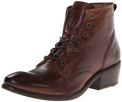 Frye Carson de la mujer Botas de Brown Washed Antique Pull-up