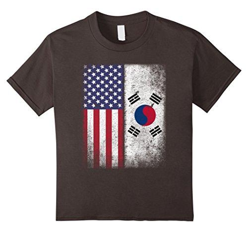 Price comparison product image Kids South Korean American Flag T-shirt South Korea Usa Tee 10 Asphalt