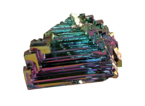 Small Bismuth Crystal .45-.5 Inch Man-made Mineral Specimen w Info Card