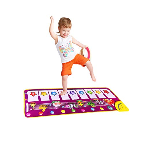 SGDD Piano Mat, Musical Piano Keyboard Dance Mat Carpet Baby Touch Play Animal Blanket Toys for Little Boys Girls Baby Gifts Xmas Gifts for Kids