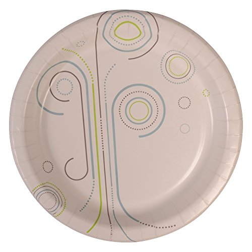 "Perfectware Plate 10 Everyday- 125 10"" Coated Paper Plates for Everyday Use, 0.1"" Height, 10"" width, 10"" Length (Pack of 125)"