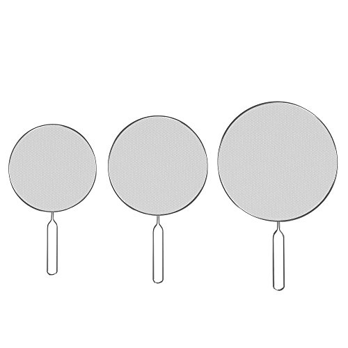 (Classic Cuisine 82-KIT1046 Splatter Screen Guards, small, medium and large, Stainless Steel)