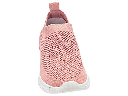 Foster Footwear Ladies Krush Super Lightweight Mesh Canvas Lace Up Slip On Elastic Fashion Sports Sock Trainer Go Shoes Size 3-8 Pink ra73mpQAw