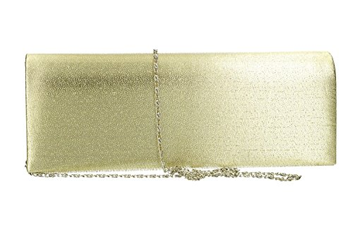 Clutch elegant ceremony woman bag opening button VN2317 SISSI gold qvZvpWzw