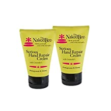 The Naked Bee Serious Hand Repair Cream Lotion - 2 Pack - Pomegranate & Honey w/ Ceramide 3 by The Naked Bee