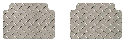 Intro-Tech AR-119R-DP Diamond Plate Second Row 2 pc. Custom Fit Floor Mats for Select Alfa Romeo Giulia Nuova Models - Simulated Aluminum, Silver