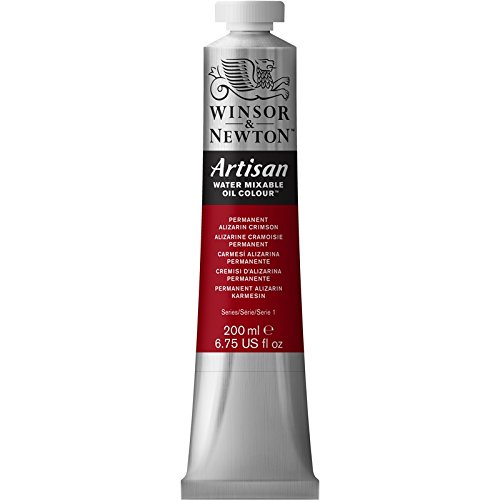 Winsor & Newton Artisan Water Mixable Oil Colour Paint, 200ml Tube, Permanent Alizarin Crimson