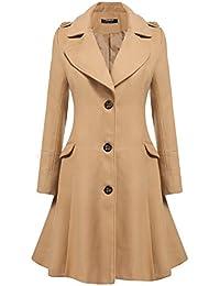 Beige Pea Coat Womens