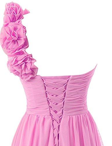 Ein Abendkleid Ballkleid Lang Schulter Festkleid Chiffon Himmelblau Partykleid Brautjungfernkleid Ha1RU