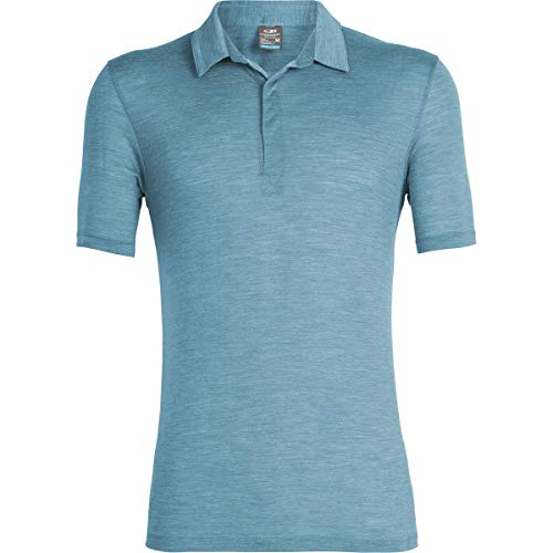 Icebreaker Solace Polo Shirt - Men's Thunder, XL